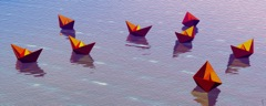 Boatscape-Flock 13 pp 11x26