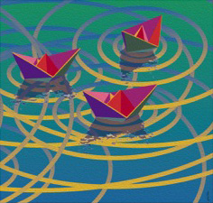 Boatscape triptych-Burgeoning#3,  13 pp 22x23.33