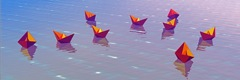 Boatscape-Flock 13 pp 11x34