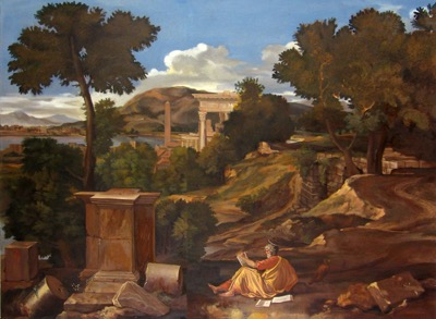 in progress-Poussin'sSt John on the Island of Patmos15 ol 40x54
