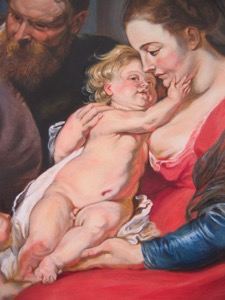 Rubens' Holy Family, detail center08 op 47x36