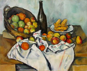 in progress - Cezanne'sBasket of Apples 17 oc 26x32