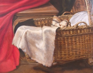 Rubens' Holy Family, detail bottom rightCradle08 op 47x36