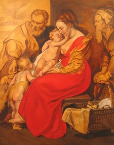 Rubens' Holy Familyin progress04 op 47x36