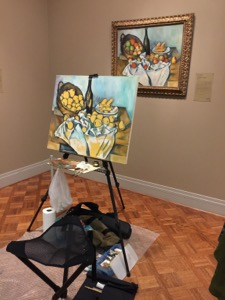 in progress - Cezanne'sBasket of Apples16 oc 26x32